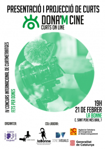 Barcelona: Presentació de la IV edició de DONA'M CINE @ La Bonne, Centre de Cultura de Dones Francesca Bonnemaison
