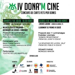 Barcelona: Celebración del Premio Berta Cáceres IV DONA'M CINE @ CENTRE DE CULTURA DE DONES FRANCESCA BONNEMAISON, Espai La Cuina