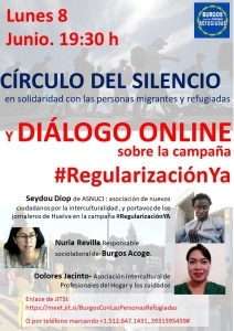 Burgos: Diálogo online, campaña #RegularizaciónYa