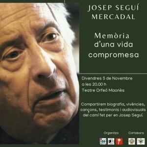 Homenatge Josep Seguí Mercadal @ Teatre Orfeó Maonès